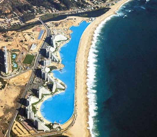 Der größte Swimming Pool der Welt in Chile
